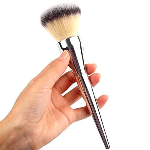 ❤️ LMMVP❤️ Pinceau de Maquillage Professionnel Visage de Kabuki Rougir Brosse Fondation de Poudre Outil (1pcs, Argent)