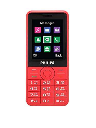 Philips Xenium E168 Dual SIM Mobile Phone-Red