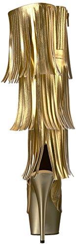 Pleaser delight-2019-3 - Gold Metallic Pu/Gold Matte