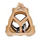 BYJIN Kratzspielzeug Haustiere Wasserrad Riesenrad Wellpappe, Sport Laufband Katzen beim Abnehmen helfen Bring die Katze glücklich