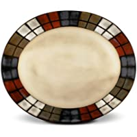 Pfaltzgraff Calico Oval Serving Platter, 14-Inch by Pfaltzgraff