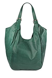 Belli - Bolso al hombro de cuero para mujer verde verde de Belli®