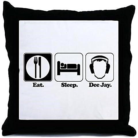 CafePress–Mangiare. Sonno. dee Jay/DJ/Disc Jockey)–Throw Pillow, Cover