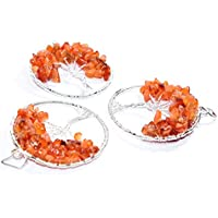 Pendant Carnelian 2-2.5 inch +7 CHAKRA TUMBLE Necklace Handmade Chakra Gemstone Jewelry Healing Crystal preisvergleich bei billige-tabletten.eu