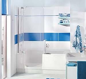 nischen badewanne mit t r und dusche artweger twinline 2 profil weiss baumarkt. Black Bedroom Furniture Sets. Home Design Ideas