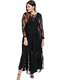 d40d6f268b Betty-Boutique Black Sheer Long Sleeve Pleated Maxi Dress Size 12-14