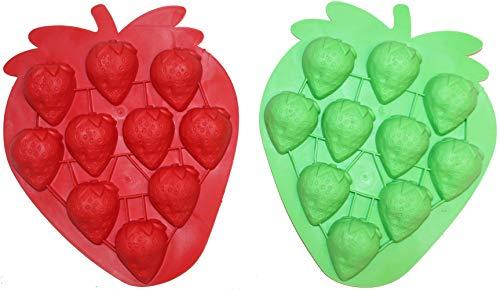 TopTen Silikon Eiswürfelform Frucht Erdbeere Pralinenform (Kleine Frucht-silikon-form)