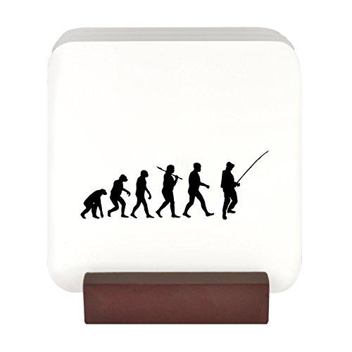 4 Untersetzer mit Motiv Evolution eines fürs Angeln mit Ständer Slim Wallet Eule