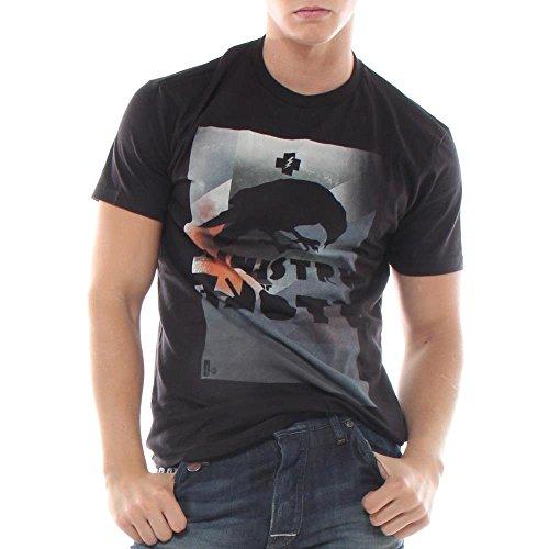 Hause Of Howe Herren T-Shirt Schwarz Vintage Black 008N
