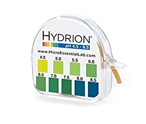 pHydrion Ph Paper Roll 15 Ft - Ph Range 4.5-8.5 by MEL