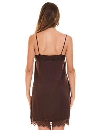 Chocolate lingerie dress by Vila Clothes Dark Brown