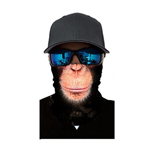 Unisex Herren Frauen Reiten eine Maske, mamum Radfahren Motorrad Kopf Schal Halswärmer Gesichtsmaske Ski Sturmhaube Haarband Einheitsgröße B