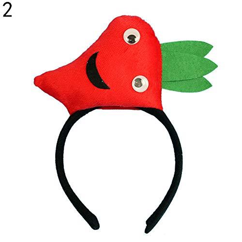 Vito546rton Cartoon Obst Gemüse Bühne Requisite Haarschmuck Lustige 3D Cartoon Obst Gemüse Haar Hoop Männer Frauen Kopfbedeckung Party Bühne Requisite