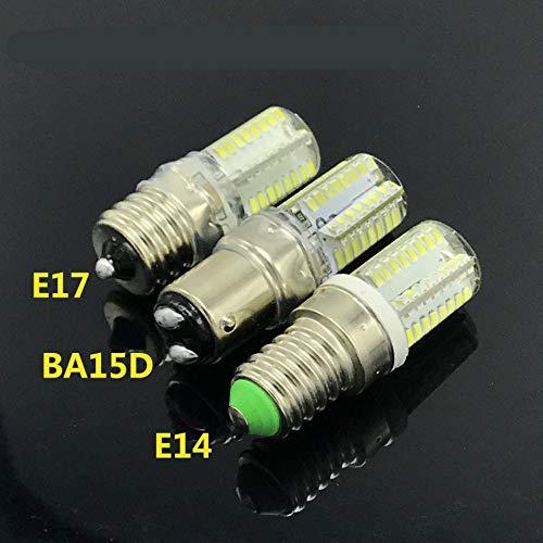 5 packE14 E17 BA15 Bombillas LED, bombilla LED para maíz, sin parpadeo,...
