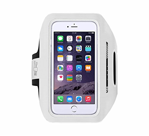 TANTRA Enhandz Adjustable Sports Running Anti-slip Ultra Light Weight Armband Mobile Holder (5.5 Inches, White)