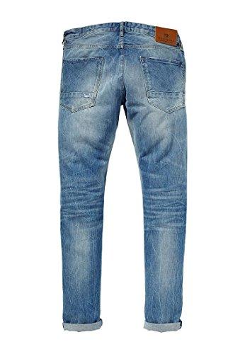 Scotch & Soda Homme Ralston solaires lumineuses régulières Slim Fit Jeans, Bleu Bleu
