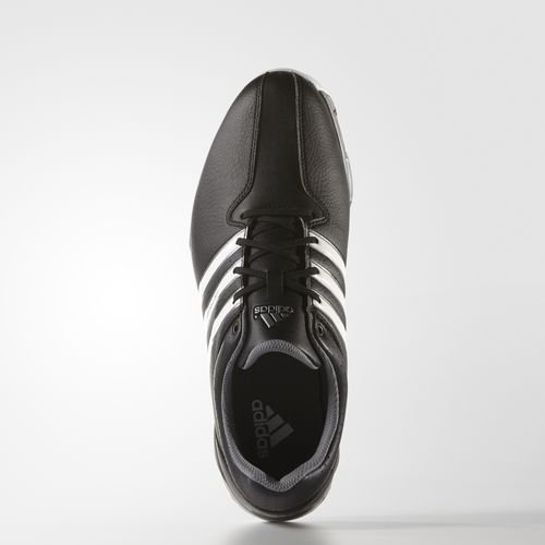 Image of adidas Men's 360 Traxion WD Golf Shoes, Black (Core Black/White/Iron Metallic), 11 UK 46 EU