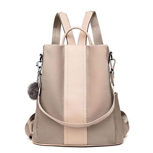 Damen Rucksack, Damen Tasche Leder Daypack, Damen Rucksack Wasserdichte Schultaschen Anti-Diebstahl Tagesrucksack Schultertaschen für Schule Reise Arbeit (A)