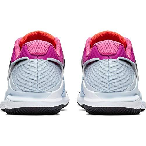 Nike Herren Air Zoom Vapor X Hc Tennisschuhe, Mehrfarbig (Half Blue/Black/White/Laser Fuchsia 401), 45 EU