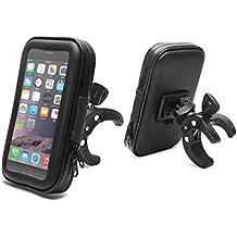 "Soporte Móvil para Bicicleta Motocicleta, AEMIAO 5.3""-6.2"" Soporte del Teléfono Móvil para Bicicletas Universal Para Bicicleta Manillar,Motos Impermeable Barra de la Manija de la Bolsa Funda Para iPhone 8 Plus / X / 7 Plus, Galaxy S8 / S8 Plus / S7 Edge, Huawei Mate 10 Lite Honor 7X, Motorola, Sony , LG Smartphone, GPS y Otros Dispositivos"