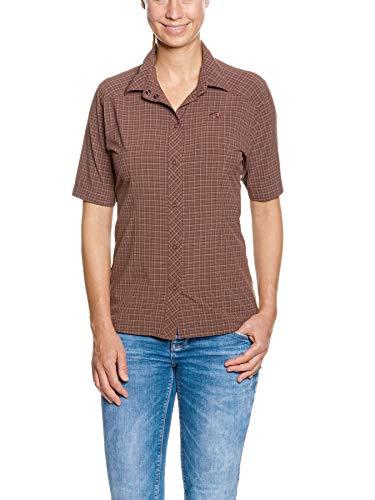 Dark Aubergine (Tatonka Outdoor-Bluse Jonne W's Shirt - leichtes Kurzarm-Hemd mit Sonnenschutz für Wandern, Trekking und Freizeit - UV-Schutz 30+ - Regular Fit - Größe 44 - Dark aubergine)