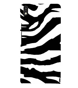 Fiobs Designer Back Case Cover for Huawei Ascend P6 (Zebra Marty Stripes Nature Beautiful)