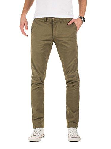 Yazubi Herren Chino Hose, Modell Dustin, Chinohose by Yzb Jeans, Grün (Dusty Olive 180515), W34/L34