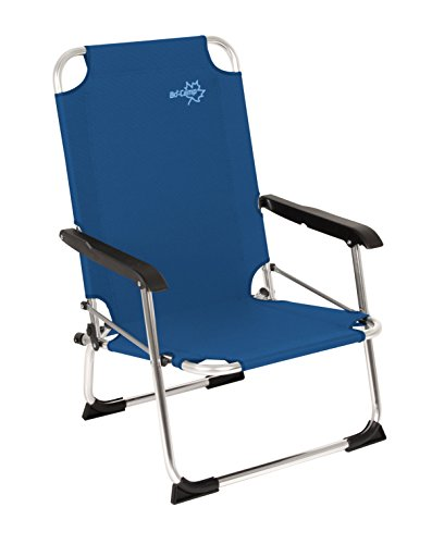 Bo Camp Copa Rio low - niedriger Klapp-Stuhl Aluminium blau 44x54x77cm Belastbarkeit 100kg