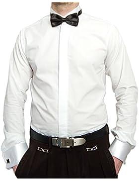 Designer Smoking camicia bianca con papillon Nero camicia da uomo Gemelli Smoking Bügel di busta manicotto a maniche...