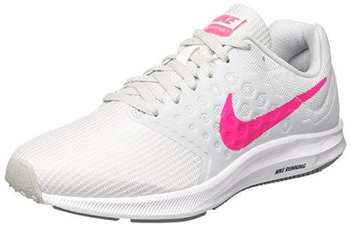 Nike Damen Downshifter 7 Laufschuhe, Mehrfarbig (White/Hyper Pink/Pure Platinum/Black), 40 EU (Gepolsterte Besten Am Laufschuhe)