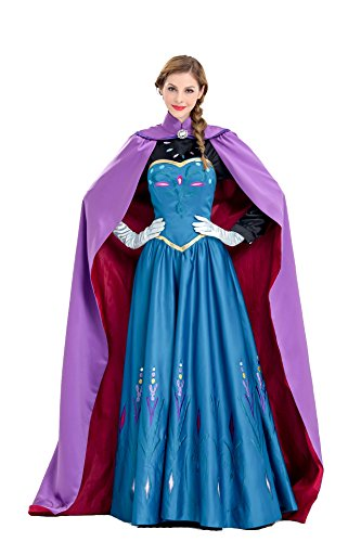(Jinlan Fuzhuang Anna Kostüm Fancy Ball Prinzessin Cosplay Langes Kleid für Frauen (Large, Purple))