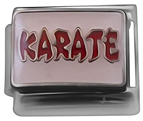 Karate-Charm-Anhänger für klassisches italienisches Nomination & Zoppini Charm-Armbänder