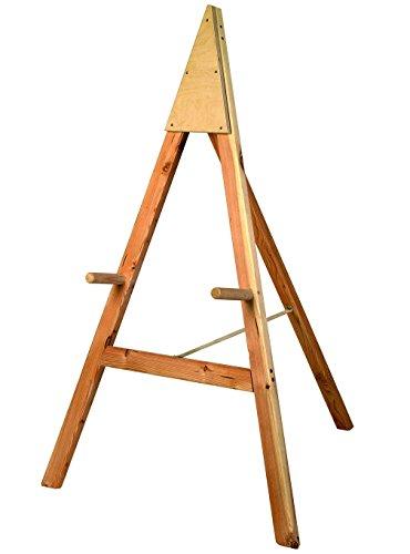 Herbertz Erwachsene Scheibenständer Standard, Nadelholz, Maße 80 x 100 x 125 cm, (Lieferung Ohne Scheibe) Bogensport-Zubehör, Mehrfarbig, One Size