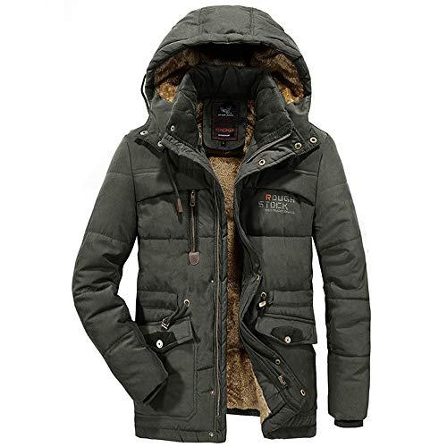 Tuta uomo ashop cappotto da manica lunga trench giacca a invernale più velluto imbottita calda antivento xl fertilizzante verde militare xxxxx-large