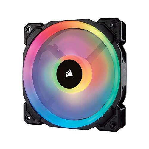 Corsair LL120 RGB Ventola da 120 mm, Dual Light Loop RGB LED PWM, Confezione Singola