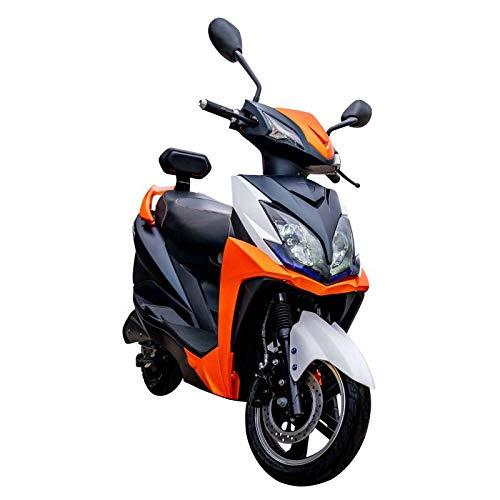 Elektroroller FALCON, 3400 Watt, E-Scooter, Elektro-Roller, E-Roller mit Straßenzulassung, 45 km/h, herausnehmbarer Lithium-Akku, 55 km Reichweite, Produktvideo, Orange