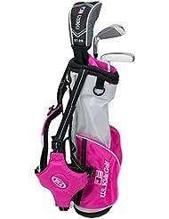 "US Kids Golf Ultralight Series Set 39"" PINK EDITION, 96cm - 103cm, Age 3-5 years, golf clubs for kids, Golfschläger für Kinder, Fairway Driver, Iron/Eisen 7, Putter, Bag, maximum distance and control, soft feel, lightweight, stainless steel"