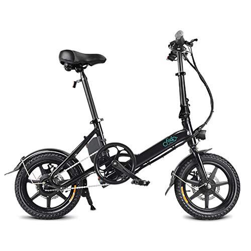 Bicicletta elettrica piegante a 14 pollici, EBike leggero/bianco nero/di alluminio con i pedali, bici elettrica per gli adulti