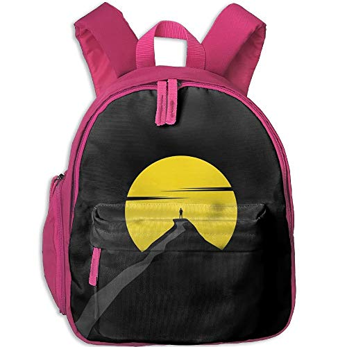 Climb Up The Mountain Kid and Toddler Student Backpack School Bag Super Bookbag - Mountain Pottery