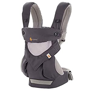 Ergobaby Baby Carrier for Toddler, 360 Cool Air Carbon Grey, 4-Position Ergonomic Child Carrier and Backpack   4