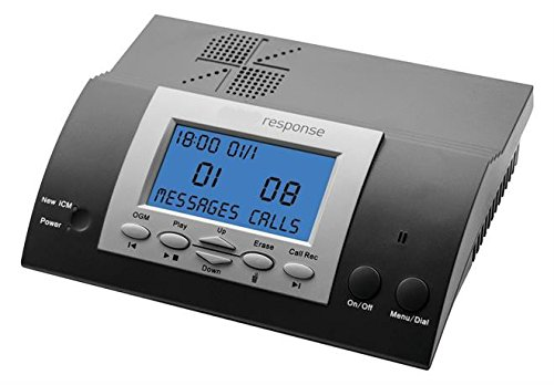 Response Answer Machine - 50 minute recording - SoHo Business Digital Answering Machine - Remote Access (via Code) - Digital Display (Inc: Phone Adapter Lead)