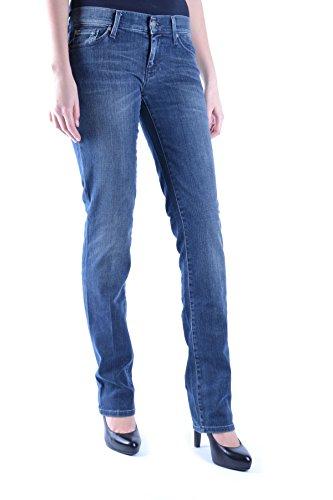 7 For All Mankind Damen MCBI004014O Blau Baumwolle Jeans