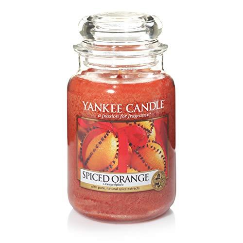 Yankee Candle Duftkerze im großen Jar, Spiced Orange, Brenndauer bis zu 150Stunden -