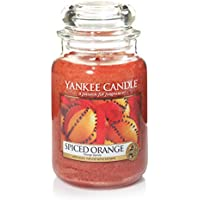 Yankee Candle candela profumata in giara grande, Arancia speziata, durata: fino a 150 ore