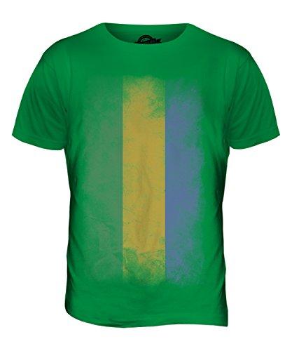 CandyMix Gabun Verblichen Flagge Herren T Shirt Grün