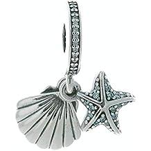 Pandora Colgante Estrella de Mar Tropical y Concha 792076CZF