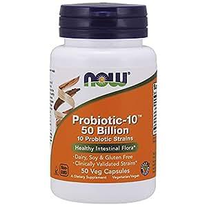 NOW Foods - Probiotic-10 25 50 Milliards capsules veg.