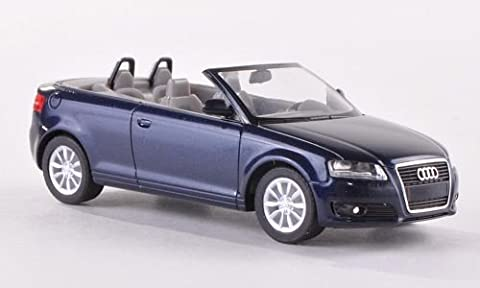 Audi A3 Cabriolet (8P), met.-dkl.-blau , 2008, Modellauto, Fertigmodell, Herpa 1:87