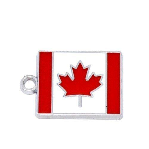 1-x-rosso-bianco-lega-dello-smalto-22mm-ciondoli-pendente-bandiera-del-canada-zx03975-charming-beads