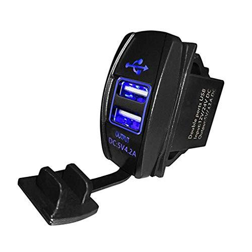 Uzinb 12-24V USB de Doble reemplazo del Cargador del Coche 5V 3.1A Auto Universal Cargador de teléfono móvil para el Auto eléctrico de la Motocicleta del Coche del Barco